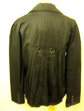 RRP £50 Kangol Black Cotton  Pleat Back detail Swing Jacket Trench Coat 12 Med