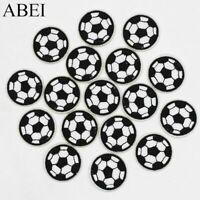 10PCS DIY Embroidered Football Patch Iron On Sew On Patch Clothing Fabric Badge