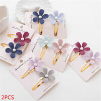 Flower  Crystal Hair Accessories Hairgrips Pearl Hair Clips   Metal  Barrettes