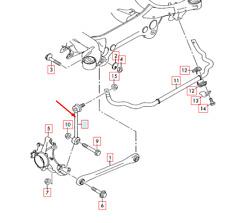 Audi Q7 4L Rear Left Side Anti Roll Sway Bar 7L0505465D NEW GENUINE 2015