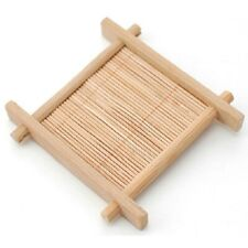Bamboo Pad Tea Trays Creative Wood Jing Concave Chinese Cup Mat Cup Saucer