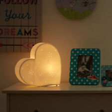 Ceramic White Heart Night Light Ambient Bedroom New Kids Room Childrens Lighting