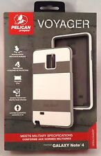 NEW!!! Pelican Progear Voyager for Samsung Galaxy Note 4 - White / Gray