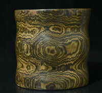"""7.2 """"Chine Huanghuali Bois Sculpté Dynastie Fantôme Yeux Brosse Pot Crayon Vase"""