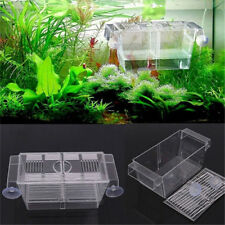 BH_ Aquarium Fish Tank Guppy Double Breeding Breeder Rearing Trap Box Hatchery A