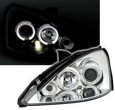 Angel Eyes Scheinwerfer Set in Chrom für FORD FOCUS 1 10/98-9/01 MK1 H1 930047