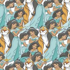 Disney Princess Jasmine and Rajah Packed on Cotton Fabric~ By The Yard
