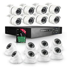 16CH HDMI HD DVR 1080P 1920*1080 2.0MP Home CCTV Security Camera System 4TB HDD