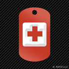 First Aid Keychain GI dog tag engraved many colors icon red cross 2