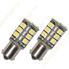2 x Warm White Car 1156 382 Tail Turn Signal 30 SMD LED Bulb Lamp Light BA15S