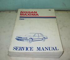 1985 NISSAN MAXIMA SERVICE MANUAL MODEL U11 SERIES
