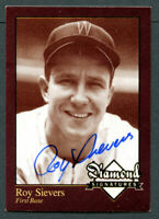 Roy Sievers signed autograph auto 2006 Diamond Signatures Baseball Trading Card