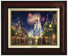 Thomas Kinkade Main Street USA Walt Disney World Classic (Burl Frame)