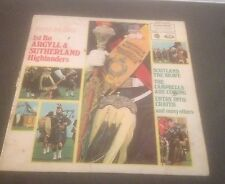 PIPES & DRUMS LP-1st Bn Argyll Sutherland Highlanders-buy 1 Get Another LP Free!