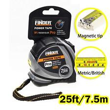 Finder professional Manganese measure Tape stainless steel Pocket 7.5M (25 foot)