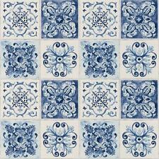 Rasch Floral Tile Wallpaper Kitchen Bathroom Leaf Motif Embossed Roll 885309