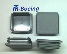 Lamellenstopfen Endkappen Stopfen Rechteck/Quadrat-Rohr 80x80 WS2-4mm in Grau