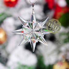 Clear Starfish Crystal Glass Little Snowflake Wedding Ornaments Christmas Gifts