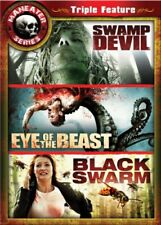 Maneater Triple Feature 2: Swamp Devil / Eye of the Beast / Black Swarm NEW!