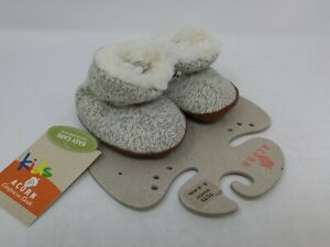 Acorn Baby Grey Wool Bootie Ragg Slippers Size 0-6 Months