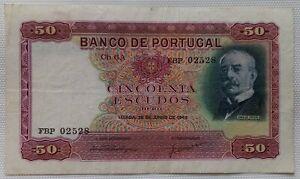 Portugal Banknote: 50 Escudos, 1949