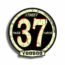 37 RACE PARTS VOODOO STREET™ branded sticker, self adhesive, collectible 97mm