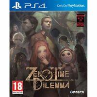 Zero Escape - Zero Time Dilemma PS4 Playstation 4 Brand New Sealed