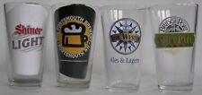 Mixed National Small Brewery beer pint glasses, Shiner, Portsmouth, etc. 4 diff.