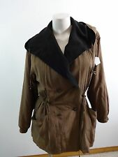 GALLERY WOMENS BROWN HOODED ANORAK JACKET WITH ZIP OUT LINER SIZE XS