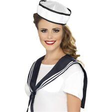 Écharpe De Marin Blanc Et Chapeau - Kit Femmes Déguisement Instantané Costume
