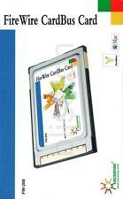 Macsense FW-200FireWire IEEE1394PCMCIA PC Card Mac XP7Vista10Laptop Notebook New