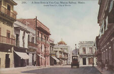 MEXICO VERA CRUZ, A STREET SCENE MEXICAN RAILWAY 2501