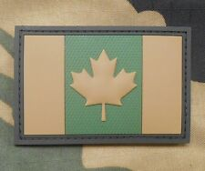 3D PVC CANADA FLAG RUBBER CANADIAN TACTICAL ARMY MORALE MULTICAM HOOK PATCH