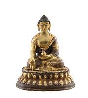 Soprammobile Tibetano Budda Sangye Menla 11 CM Rame Nepal Bodhisattva AFR8-3259