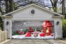 Christmas Garage Door Covers Banners Outside House Decorations Billboard GD54