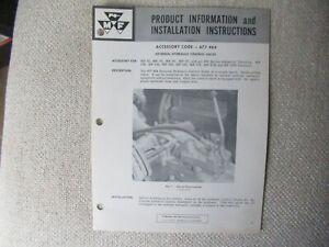 Massey Ferguson MF 35 65 165 135 hydraulic valve install instructions brochure