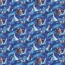 Disney Frozen Snowflake Sister Magic 100% cotton fabric by the yard
