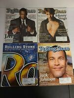 Lot of 4 ROLLING STONE MAGAZINES 2007 & 2008 Jay Z Anniversary, Johnny Sings EUC