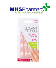 Elegant Touch Natural French False Nails 24 Set Pink 126