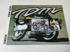 Yamaha TDM 850 de 1997 Italia Prospectus Catalogue Brochure Motos