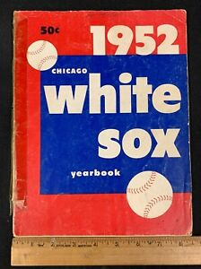 1952 VINTAGE OFFICIAL BASEBALL CHICAGO WHITE SOX YEARBOOK 4121