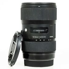 Sigma DC 18-35mm f/1.8 HSM Lens for Canon EFs