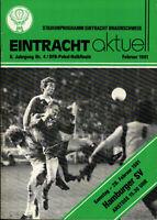DFB-Pokal 80/81 Eintracht Braunschweig - Hamburger SV, 28.02.1981