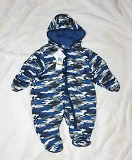 NEW Pram CALVIN KLEIN Newborn 3-6 mo Boy's Bunting Hooded Camo 3690146 Snowsuit