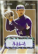 JAKE ARRIETA 2007 GOLD CERTIFIED AUTOGRAPHED ROOKIE CARD! 1 OF ONLY 50!