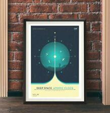 NASA's Deep Space Atomic Clock - blue - space - Wall Art / Poster