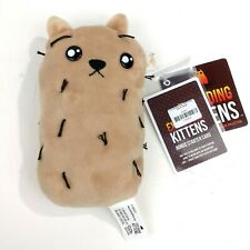"Exploding Kittens Hairy Potato 8"" Cat Collectible Plush + Bonus Card"