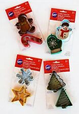 Wilton Christmas Cookie Cutters Winter Holiday Set of 8 Snowflake Tree Star More