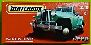 2021 MATCHBOX POWER GRABS #67/100 - 1948 WILLYS JEEPSTER