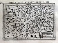S.TYROL, ITALY, BRESSANONE BRIXEN, BERTIUS original antique map 1618